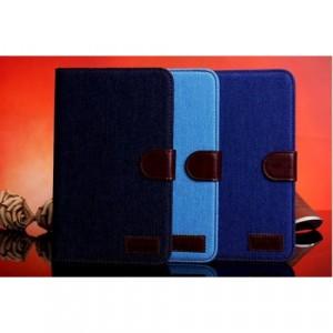 Тканевый чехол портмоне подставка серия Jeans для Samsung Galaxy Tab 3 Lite 7.0