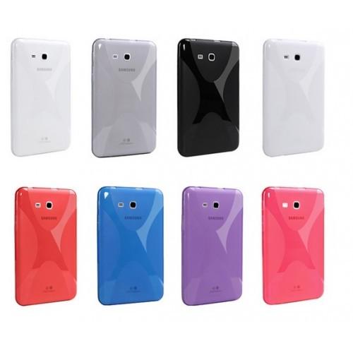 Силиконовый чехол X для Samsung Galaxy Tab 3 Lite 7.0 Фиолетовый