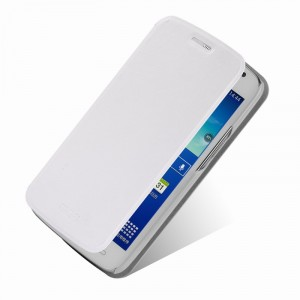 Чехол флип подставка водоотталкивающий для Samsung Galaxy Grand 2 Duos Белый