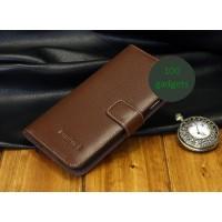 Кожаный чехол портмоне (нат. кожа) для Samsung Galaxy Grand 2 Duos Коричневый
