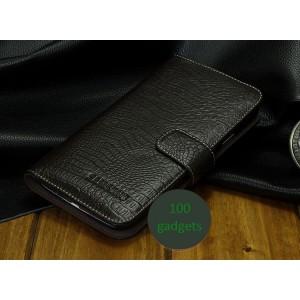 Кожаный чехол портмоне (нат. кожа крокодила) для Samsung Galaxy Grand 2 Duos