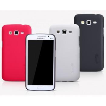 Пластиковый матовый нескользящий премиум чехол для Samsung Galaxy Grand 2