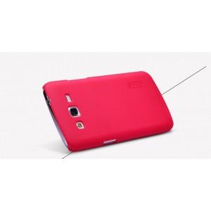 Пластиковый матовый нескользящий премиум чехол для Samsung Galaxy Grand 2 Красный