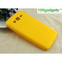 Силиконовый чехол для Samsung Galaxy Grand 2 Duos Желтый