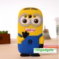 Силиконовый дизайнерский фигурный чехол для Samsung Galaxy Grand 2 Duos Желтый