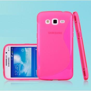 Силиконовый чехол S для Samsung Galaxy Grand 2 Duos Розовый