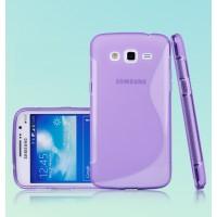 Силиконовый чехол S для Samsung Galaxy Grand 2 Duos Фиолетовый
