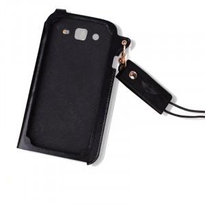 Кожаный чехол бампер подвеска для Samsung Galaxy Mega 5.8