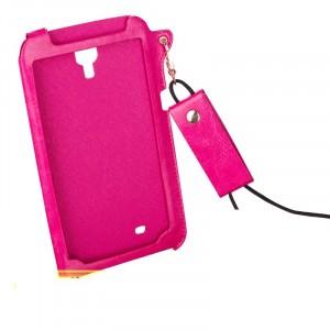 Кожаный чехол бампер подвеска для Samsung Galaxy Mega 6.3