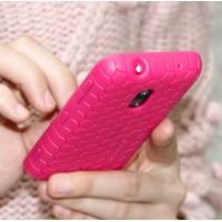Силиконовый чехол для Nokia Lumia 620 серия Tyson рисунок соты Пурпурный