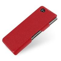 Кожаный чехол накладка (нат. кожа) серия Back Cover для Sony Xperia Z1 Compact