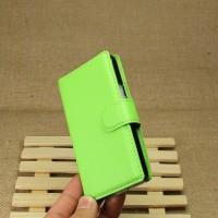 Чехол портмоне подставка для Sony Xperia E1 Зеленый