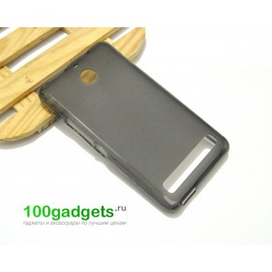 Силиконовый чехол для Sony Xperia E1 Черный