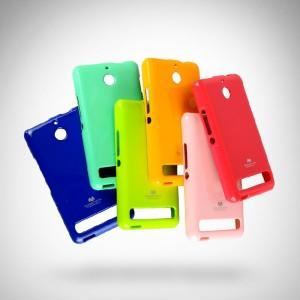 Силиконовый премиум чехол серия Korean Jelly для Sony Xperia E1