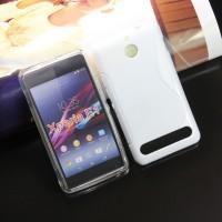 Силиконовый чехол S для Sony Xperia E1 Белый
