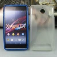 Силиконовый чехол X для Sony Xperia E1 Белый