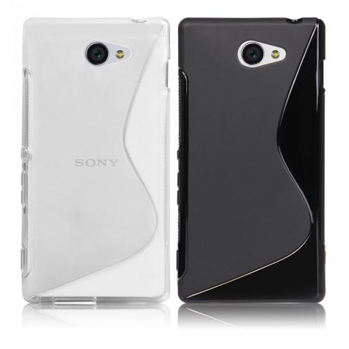 Силиконовый чехол S для Sony Xperia M2 Белый