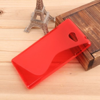 Силиконовый чехол S для Sony Xperia M2 Красный