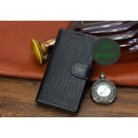 Кожаный чехол портмоне (нат. кожа крокодила) для Sony Xperia T2 Ultra