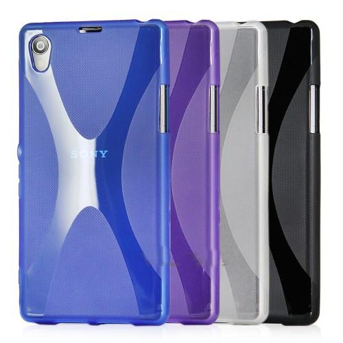 Силиконовый чехол X для Sony Xperia T2 Ultra Голубой