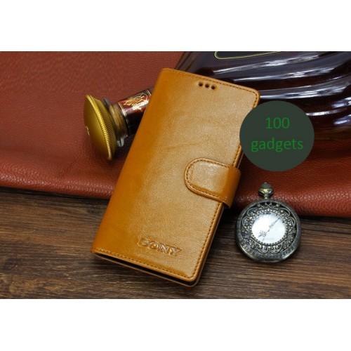 Кожаный чехол портмоне (нат. кожа) для Sony Xperia Z2