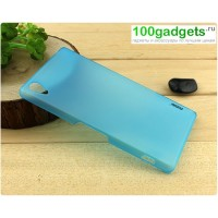 Пластиковый полупрозрачный чехол для Sony Xperia Z2 Голубой