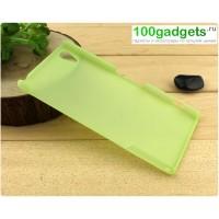 Пластиковый полупрозрачный чехол для Sony Xperia Z2 Зеленый