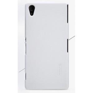 Пластиковый матовый чехол премиум для Sony Xperia Z2 Белый