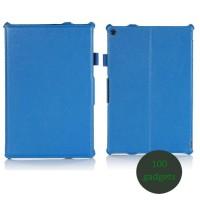 Кожаный чехол подставка для Sony Xperia Z2 Tablet Голубой