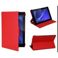 Чехол подставка текстурный для Sony Xperia Z2 Tablet Красный