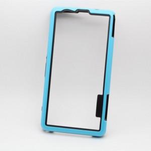 Силиконовый усиленный бампер для Sony Xperia Z1 Compact Голубой