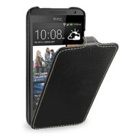 Кожаный чехол книжка вертикальная (нат. кожа) для HTC Desire 300