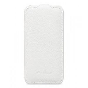 Кожаный чехол вертикальная книжка для HTC Desire 601 Белый
