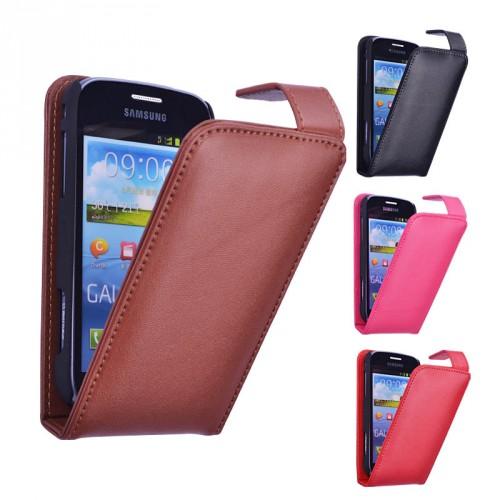 Кожаный чехол книжка для Samsung Galaxy Trend 2 II Duos