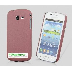Пластиковый матовый чехол для Samsung Galaxy Trend 2 II Duos Пурпурный