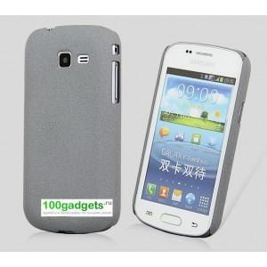 Пластиковый матовый чехол для Samsung Galaxy Trend 2 II Duos Серый