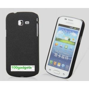 Пластиковый матовый чехол для Samsung Galaxy Trend 2 II Duos Черный
