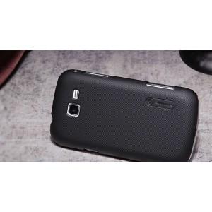 Пластиковый матовый премиум чехол для Samsung Galaxy Trend 2 II Duos Черный