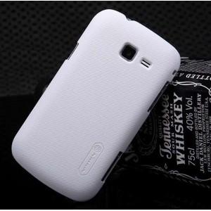 Пластиковый матовый премиум чехол для Samsung Galaxy Trend 2 II Duos Белый