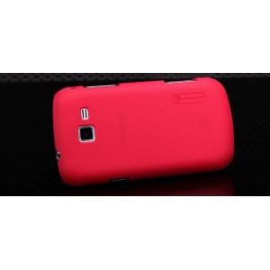 Пластиковый матовый премиум чехол для Samsung Galaxy Trend 2 II Duos Красный