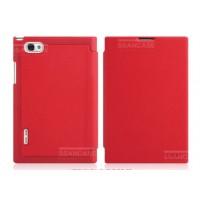Чехол кожаный книжка горизонтальная флип для LG Optimus Vu P895 Красный
