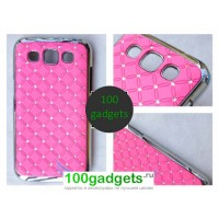 Чехол пластик/метал/стразы для Samsung Galaxy Win Розовый