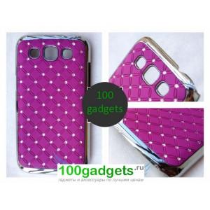 Чехол пластик/метал/стразы для Samsung Galaxy Win Фиолетовый