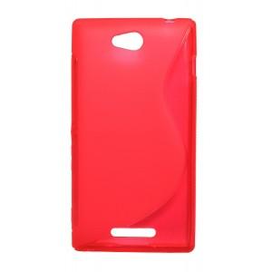 Силиконовый чехол S для Sony Xperia C Красный