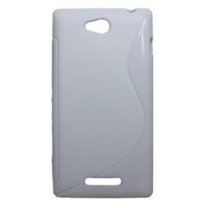Силиконовый чехол S для Sony Xperia C Белый
