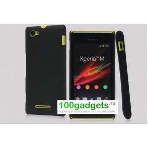 Пластиковый чехол для Sony Xperia M Черный