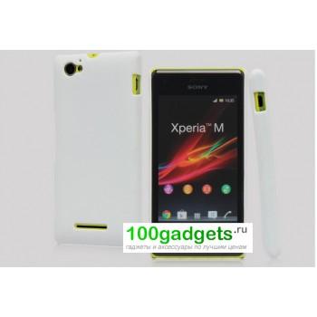 Пластиковый чехол для Sony Xperia M Белый