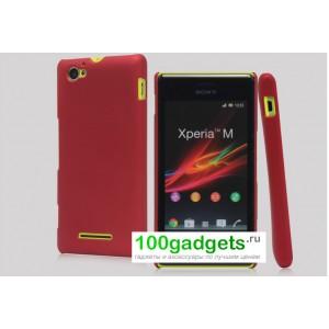 Пластиковый чехол для Sony Xperia M Красный