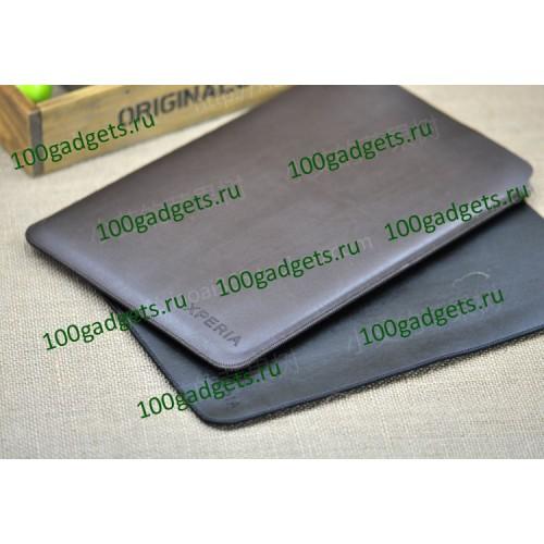 Чехол кожаный мешок для Sony Xperia Tablet Z Черный