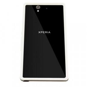 Премиум силиконовый бампер для Sony Xperia Z1 Белый